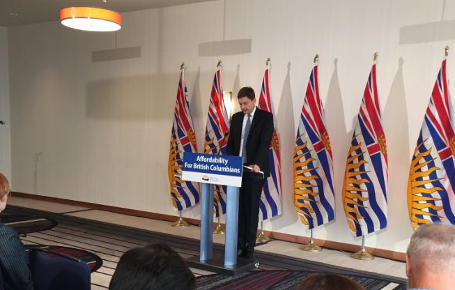 Attorney General David Eby says the long-awaited bill on campaign finance reform is expected today.