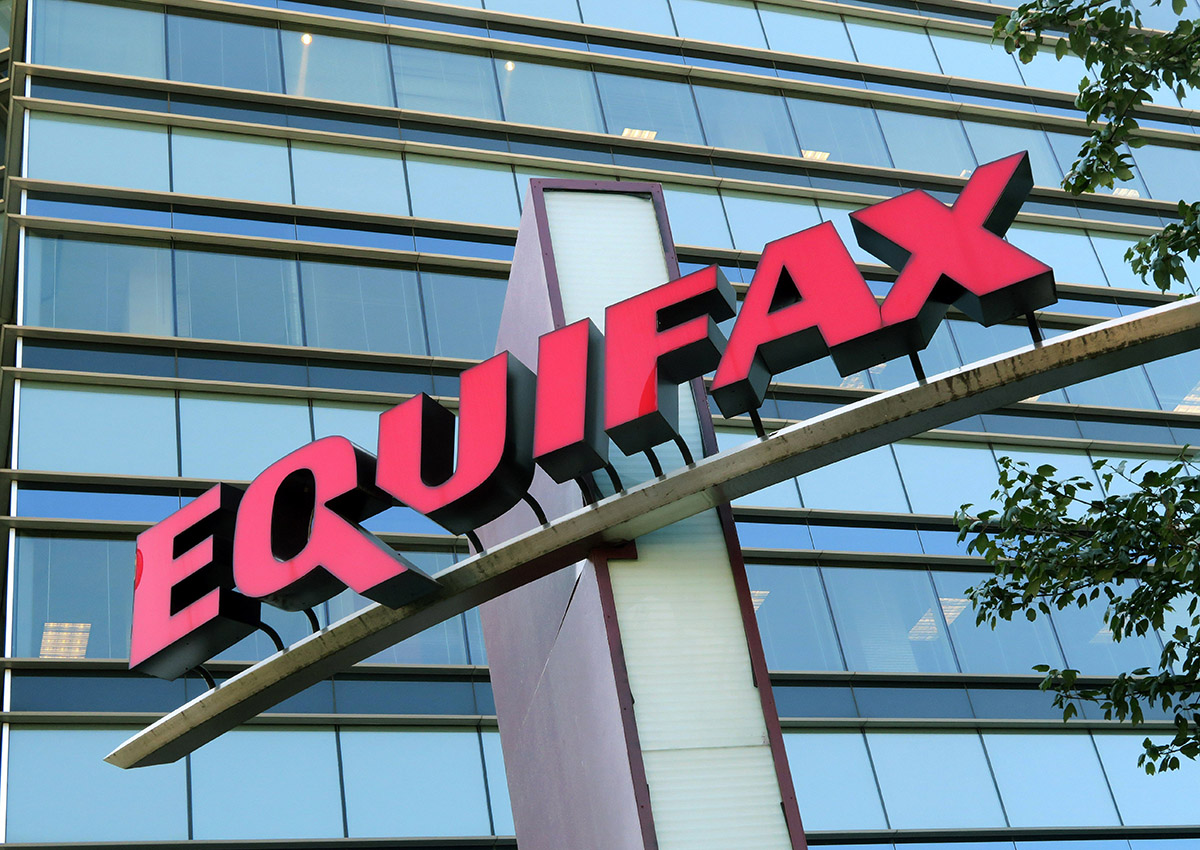 A general view of the Equifax building in Atlanta, Georgia.