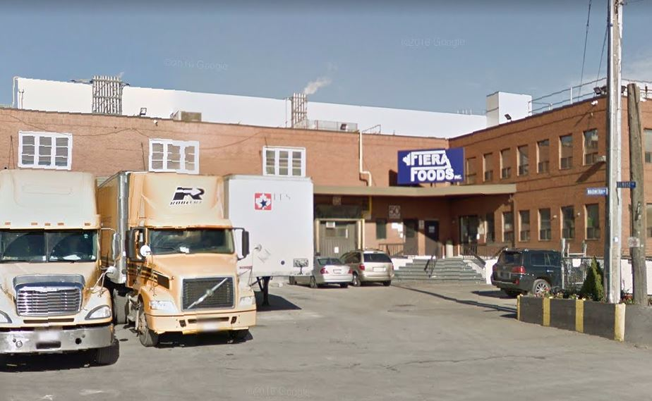 Fiera Foods, located at 50 Marmora Street in Toronto, was charged under the Occupational Health and Safety Act in the death of a worker.