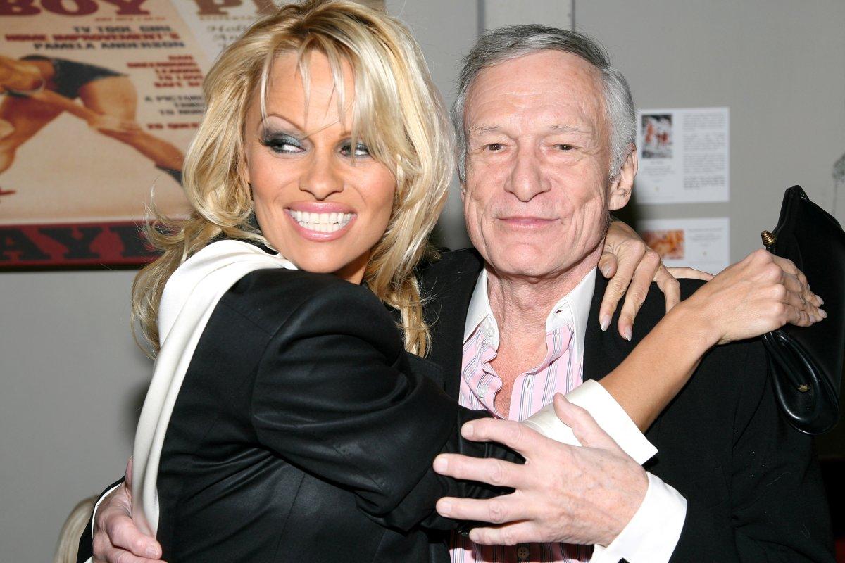 Pamela Anderson and Hugh Hefner.
