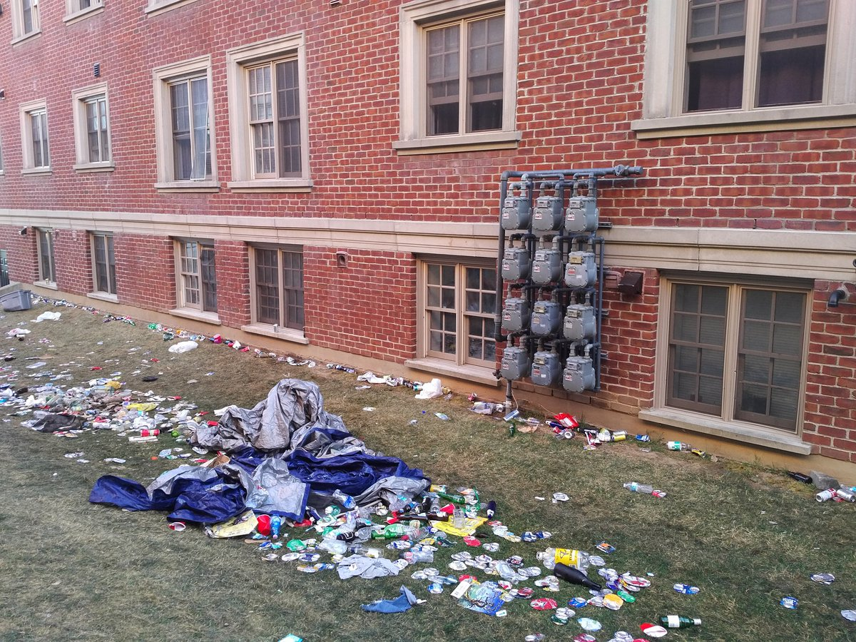Litter and garbage left behind from Homecoming 2017 in Guelph.