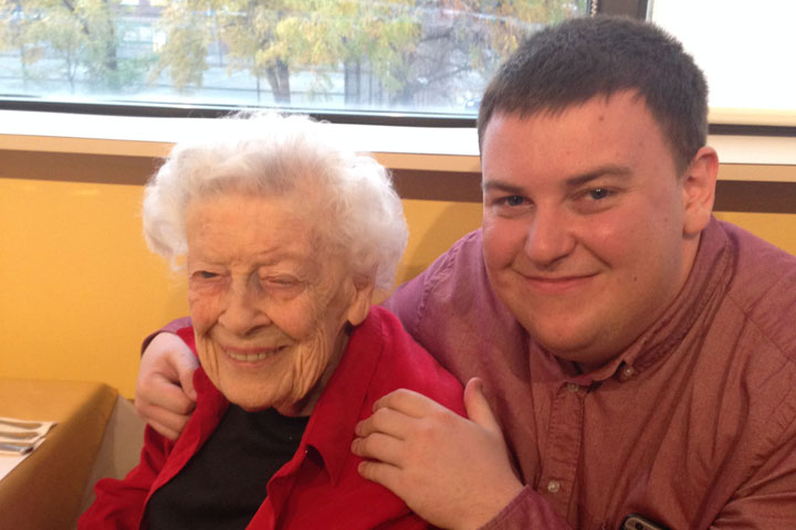 Andrew Lawton and 'Nanny,' who passed away Tuesday, Sept. 26 at the age of 100.