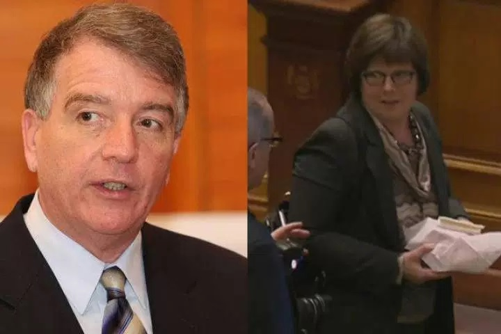 File photos of Gerry Lougheed (left) and Patricia Sorbara (right).