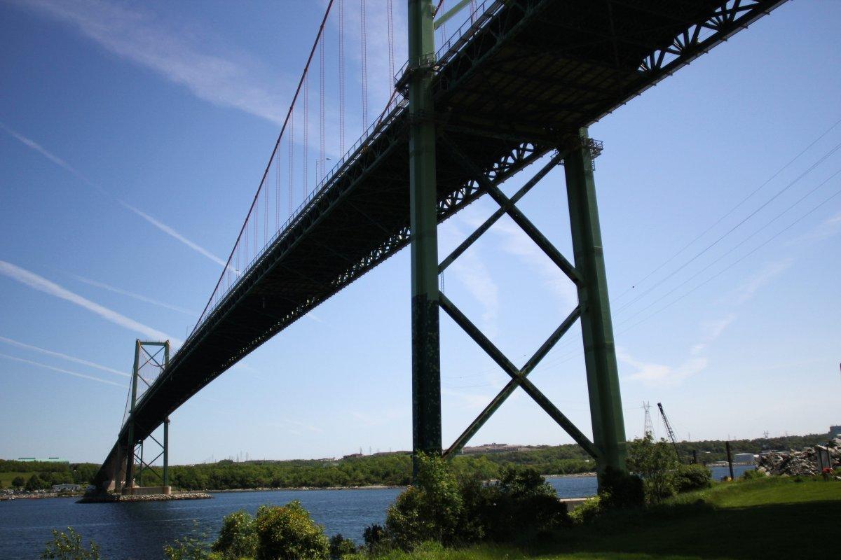 Image of the A. Murray MacKay Bridge.