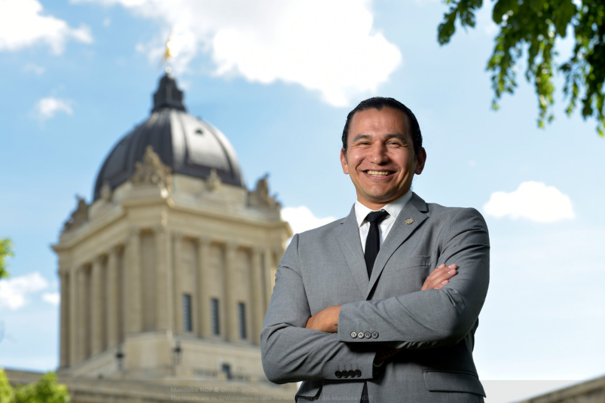 Wab Kinew elected on Saturday as the new leader for the Manitoba NDP.