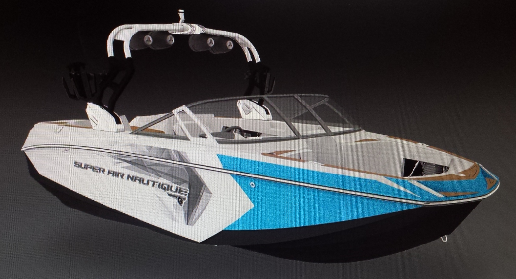 Rendering of the 23' Super Air Nautique G23 recovered by RCMP.