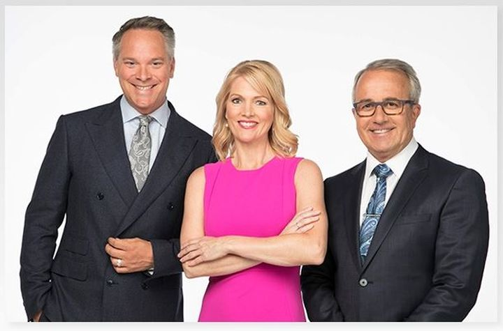 Scott Fee, Linda Olsen and  Global News weather specialist Paul Dunphy are pictured.