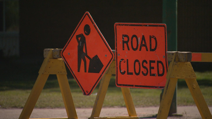 Portion of Ruth Street bordering Praireland Park closed for next 16 days due to road reconstruction.