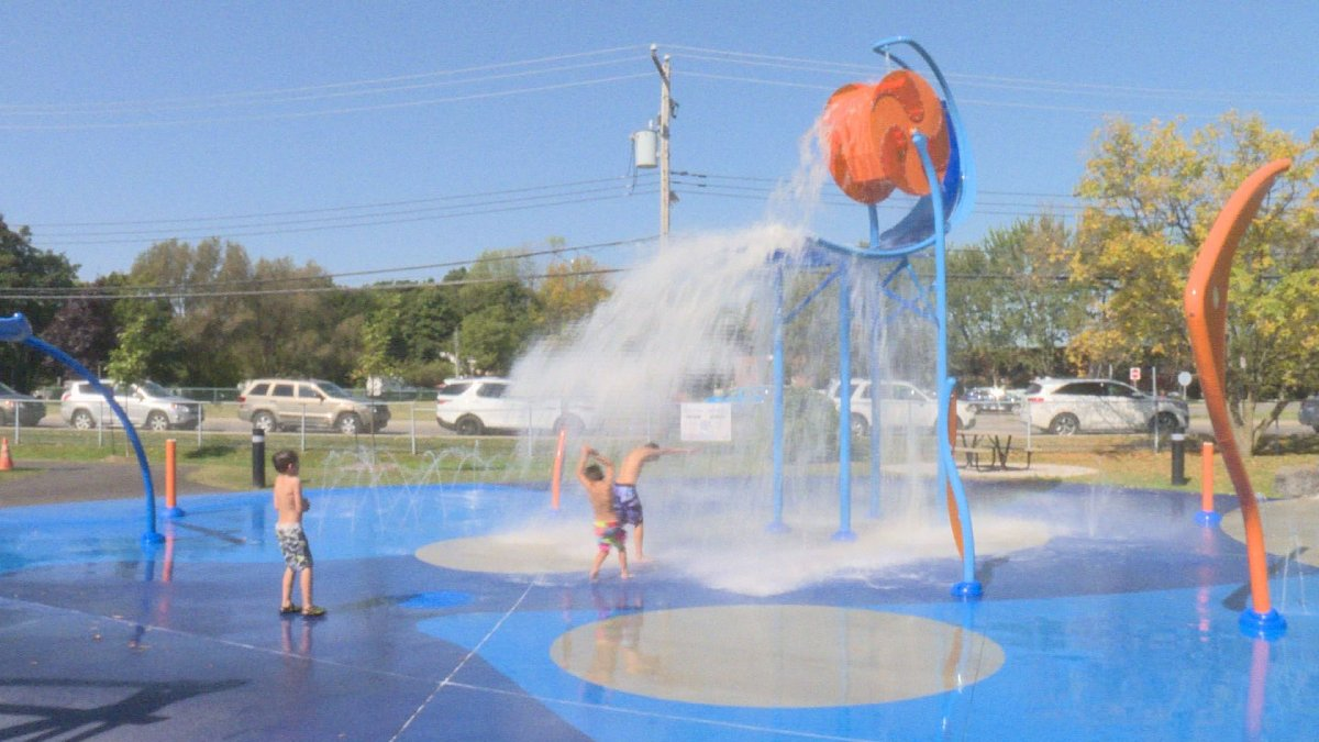 A splash pad in Pointe Claire. Sep 22, 2017.