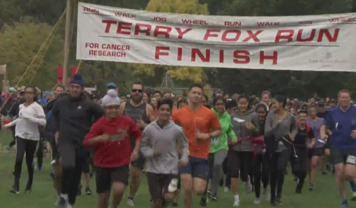 Thousands across B.C. took part in the Terry Fox Run on Sunday to raise funds for cancer research.