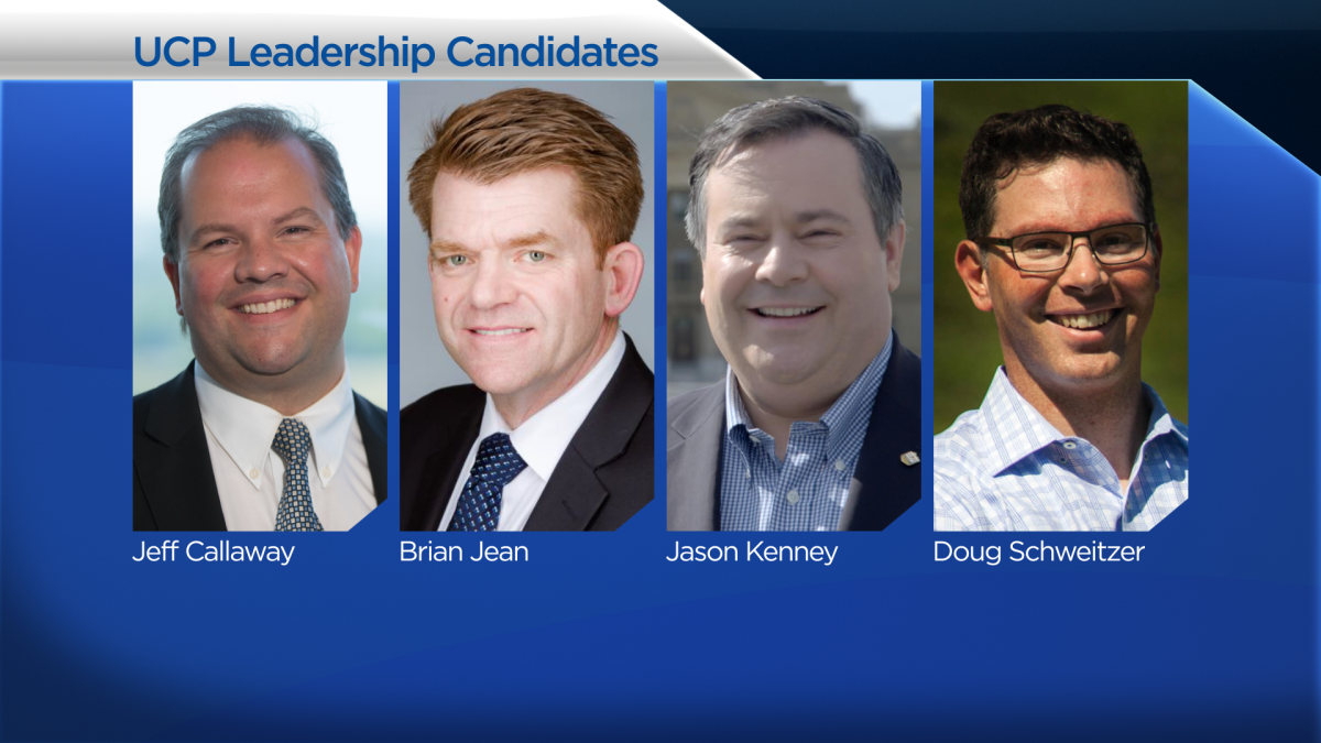 The candidates running for leadership of Alberta's new United Conservative Party.