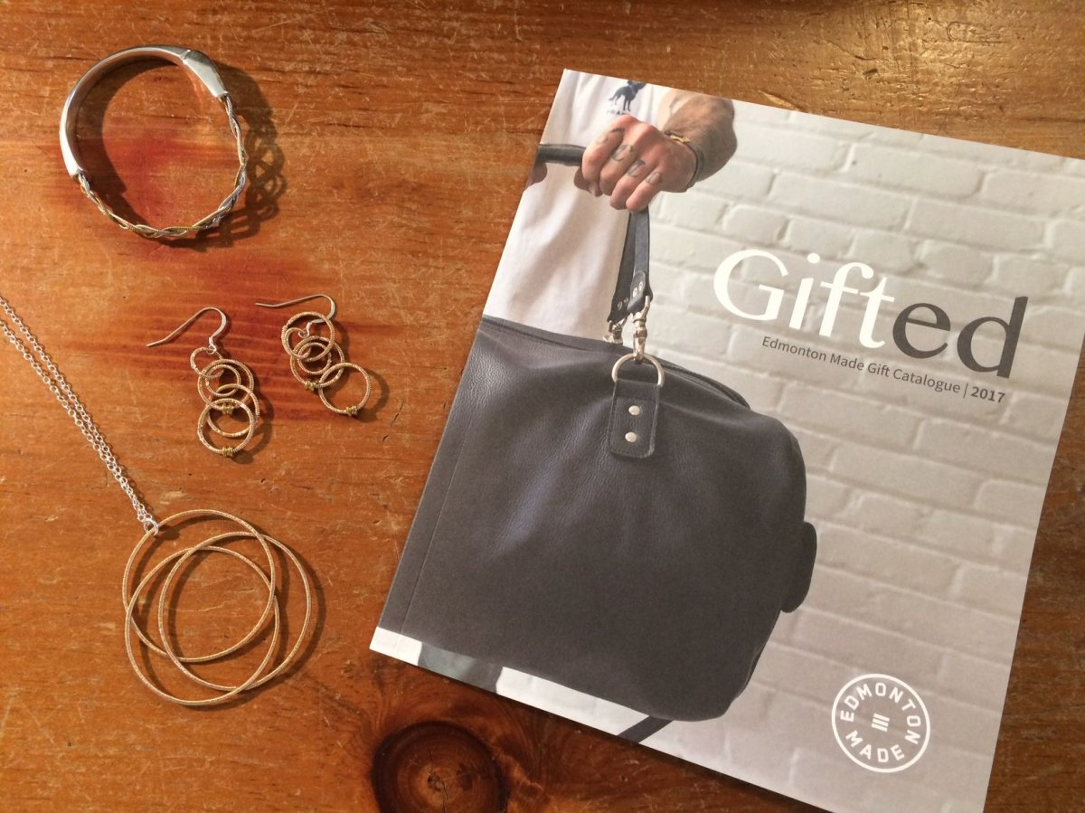 Gifted catalogue features local Edmonton businesses and artisans.
