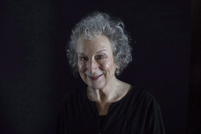 "Author Margaret Atwood poses for a photo as she promotes ""Alias Grace,"" at the Toronto International Film Festival, in Toronto on Wednesday, Sept.13, 2017."
