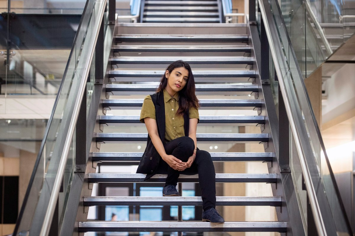 Dalhousie University student Mehak Saini poses on campus in Halifax on Monday, October 30, 2017. Saint wrote a letter speaking out against fellow Dalhousie University student Masuma Khan.