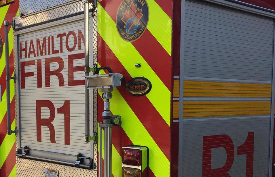 Hamilton firefighters are responding to a blaze in the city's east end.