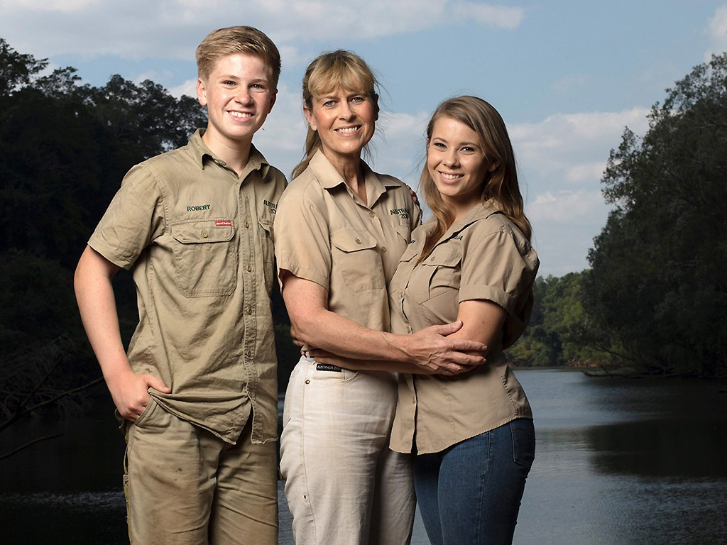 Robert, Terri and Bindi Irwin