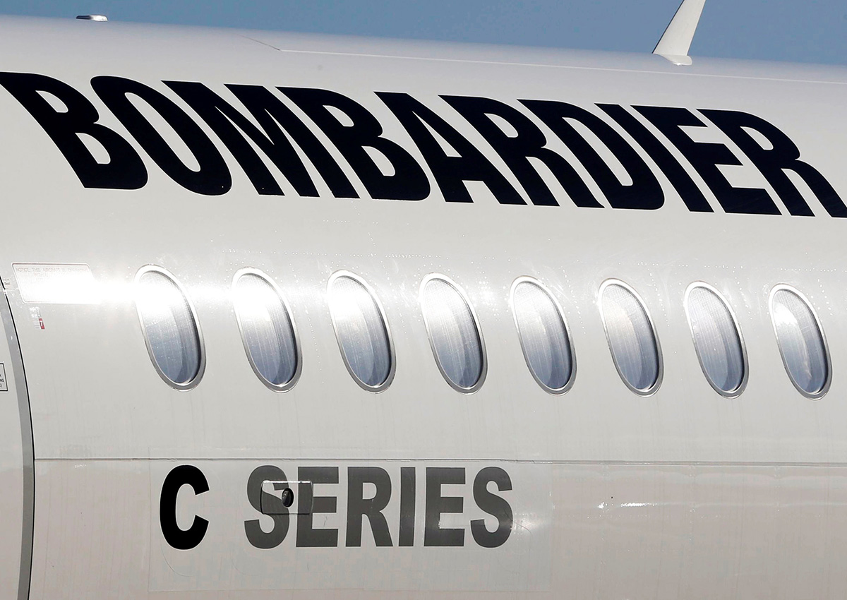A Bombardier C-Series aircraft is pictured, October 17, 2017.