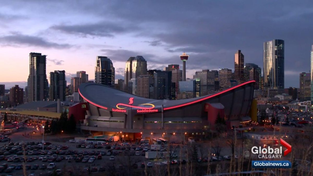 Downtown Calgary .