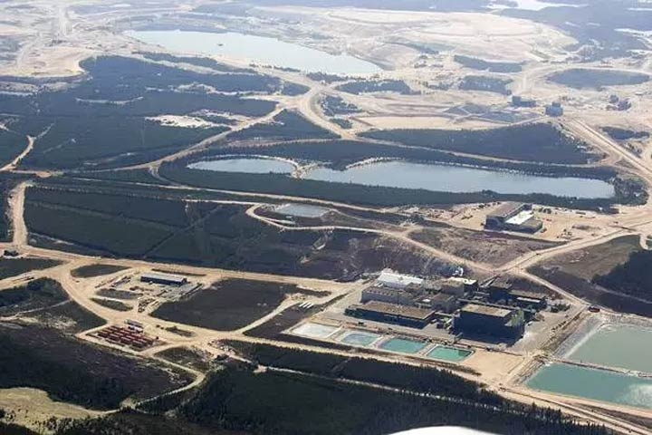An aerial view of the Key Lake Cameco mine in northern Saskatchewan.