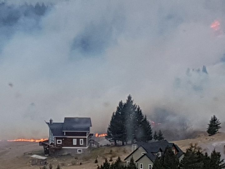 Residents in the southern Alberta community of Coleman were being evacuated Tuesday, Oct. 17, 2017 due to a wildfire.