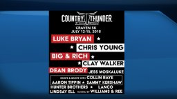Continue reading: Tracy Lawrence and Midland performing at Country Thunder