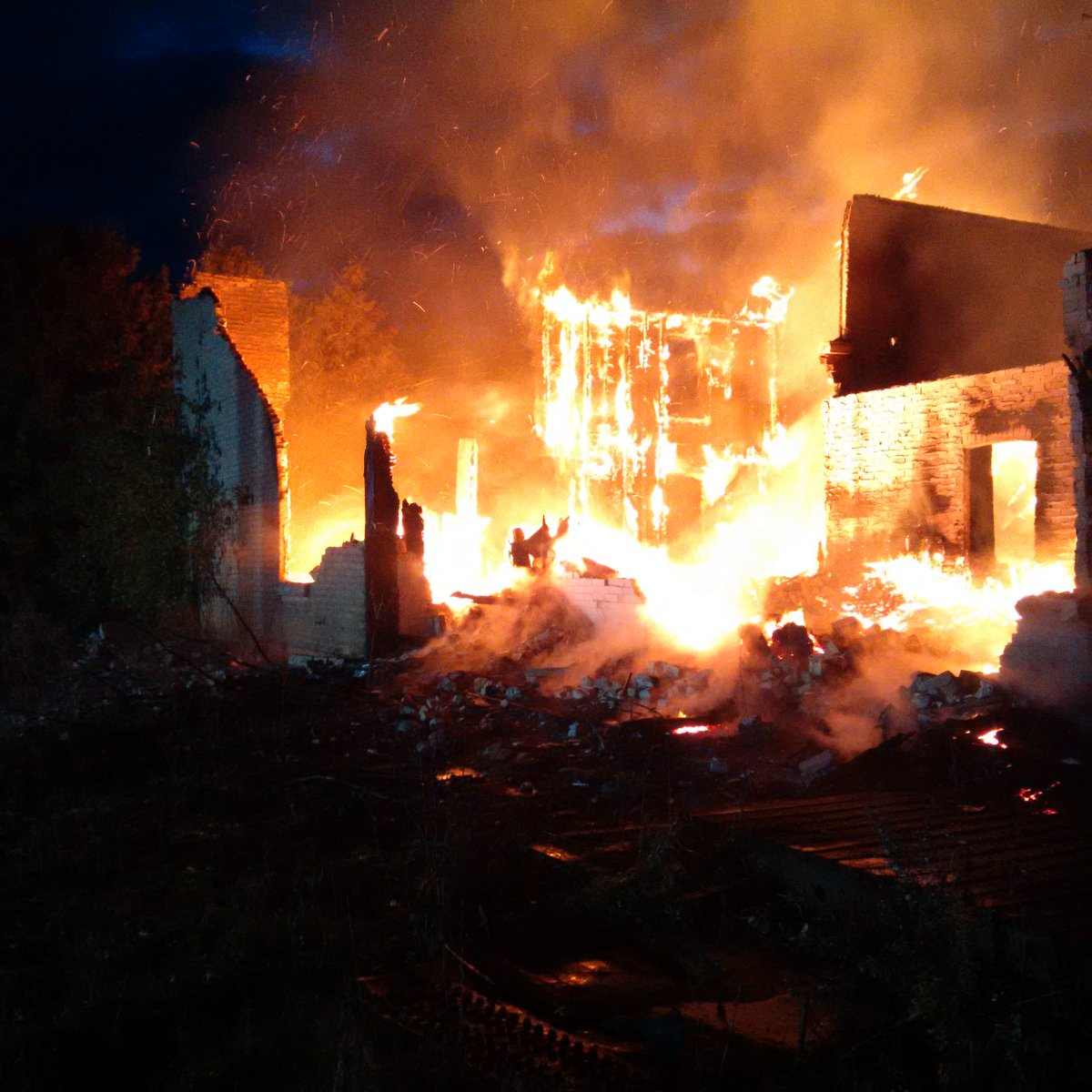 A suspicious fire gutted a house in the Township of Guelph Eramosa on Oct. 14, 2016.