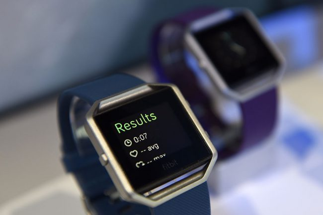 The Fitbit Inc. Blaze fitness tracker, a piece of wearable technology, is displayed during the 2016 Consumer Electronics Show (CES) in Las Vegas, Nevada, U.S., on Friday, Jan. 8, 2016.