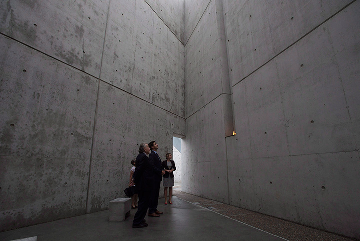 Canadian Prime Minister Justin Trudeau tours the National Holocaust Monument with Minister of Canadian Heritage Melanie Joly, and survivor Philip Goldig in Ottawa, Wednesday, September 27, 2017.