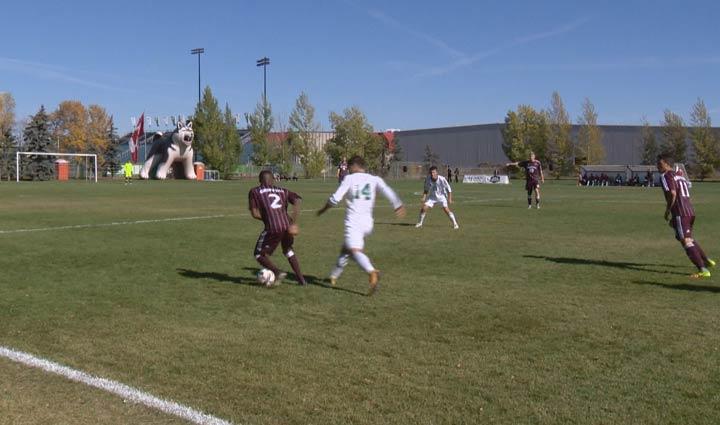 The Saskatchewan Huskies men's soccer team hosted the MacEwan Griffins Thursday in Canada West action.