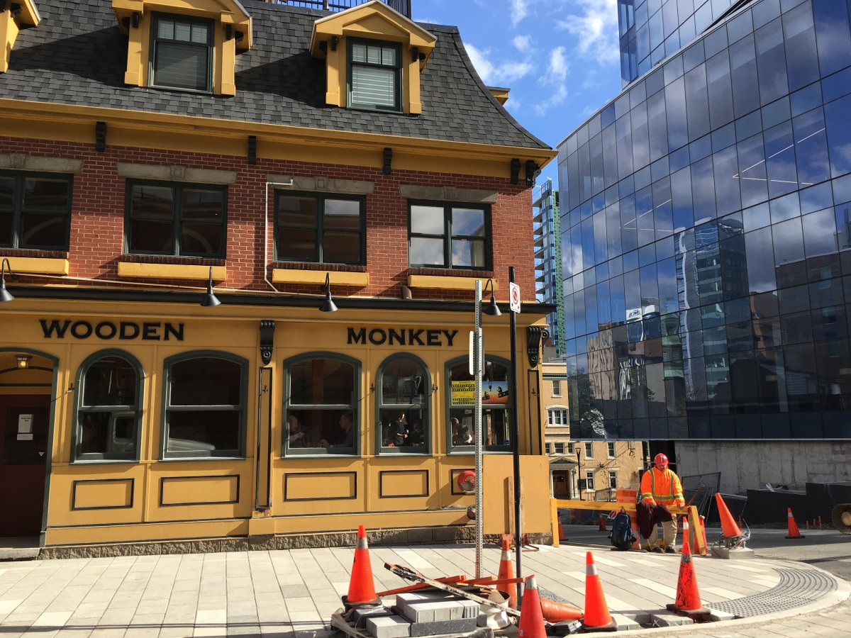 The Wooden Monkey is directly across the street from the Nova Centre project, which has seen multiple delays and is now expected to be complete in December 2017.