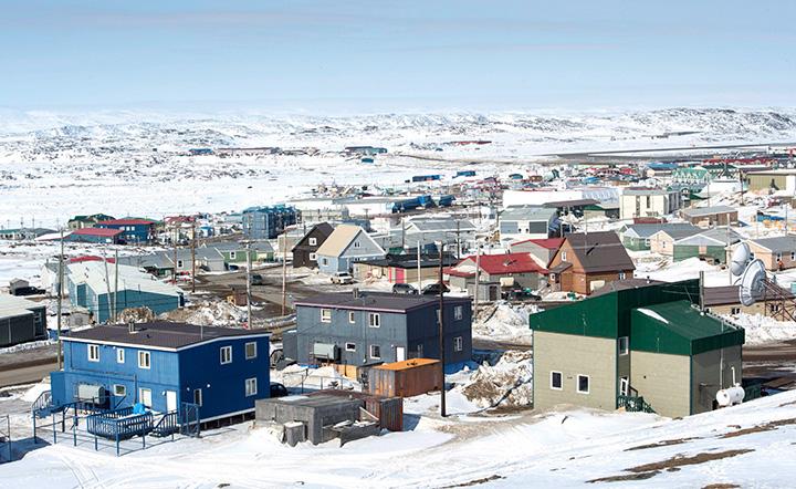 A scene from Iqaluit, Nunavut, Saturday, April 25, 2015.