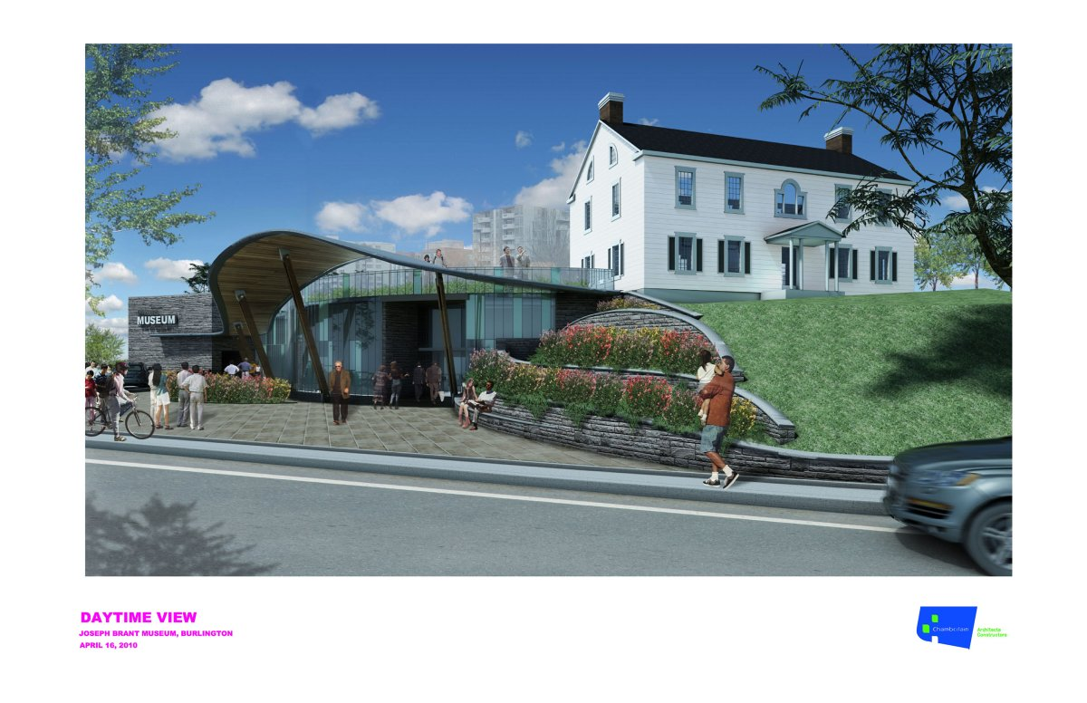 Rendering of Joseph Brant museum expansion.