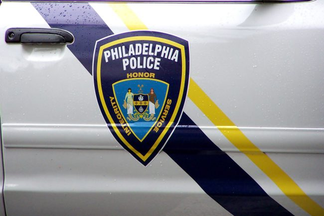 File photo of Philadelphia Police Department crest on a police cruiser.