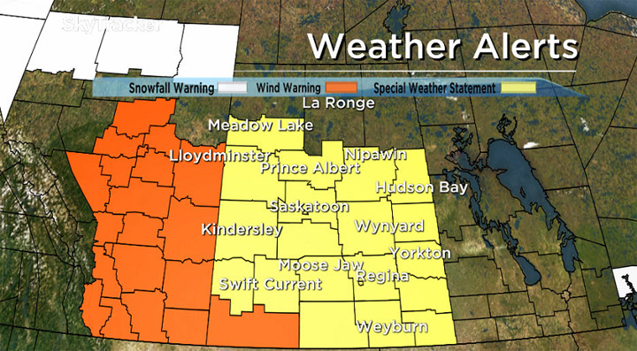 Environment Canada has issued a special weather statement for snow, rain and strong winds in central and southern Saskatchewan.