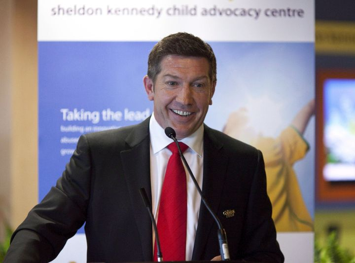 Former NHLer and sexual abuse victim Sheldon Kennedy .