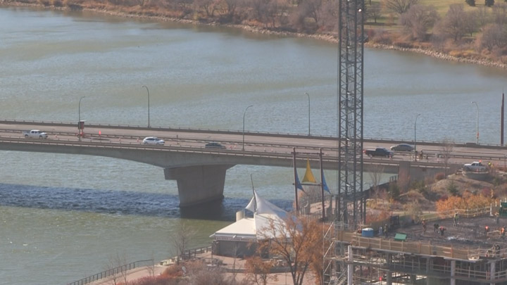 Two northbound lanes on the Sid Buckwold Bridge will be closed for up to three days while crews repair an expansion joint.
