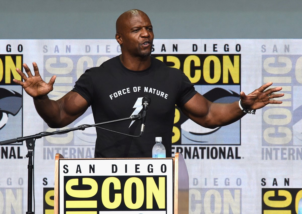 "Actor Terry Crews speaks onstage at Netflix Films: ""Bright"" and ""Death Note"" panel during Comic-Con International 2017 at San Diego Convention Center on July 20, 2017 in San Diego, California."
