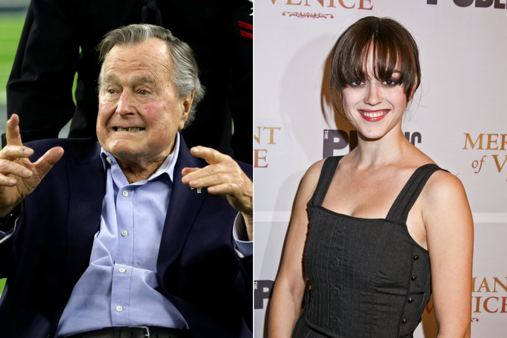 Actress Heather Lind accused George H.W. Bush of inappropriate touching.