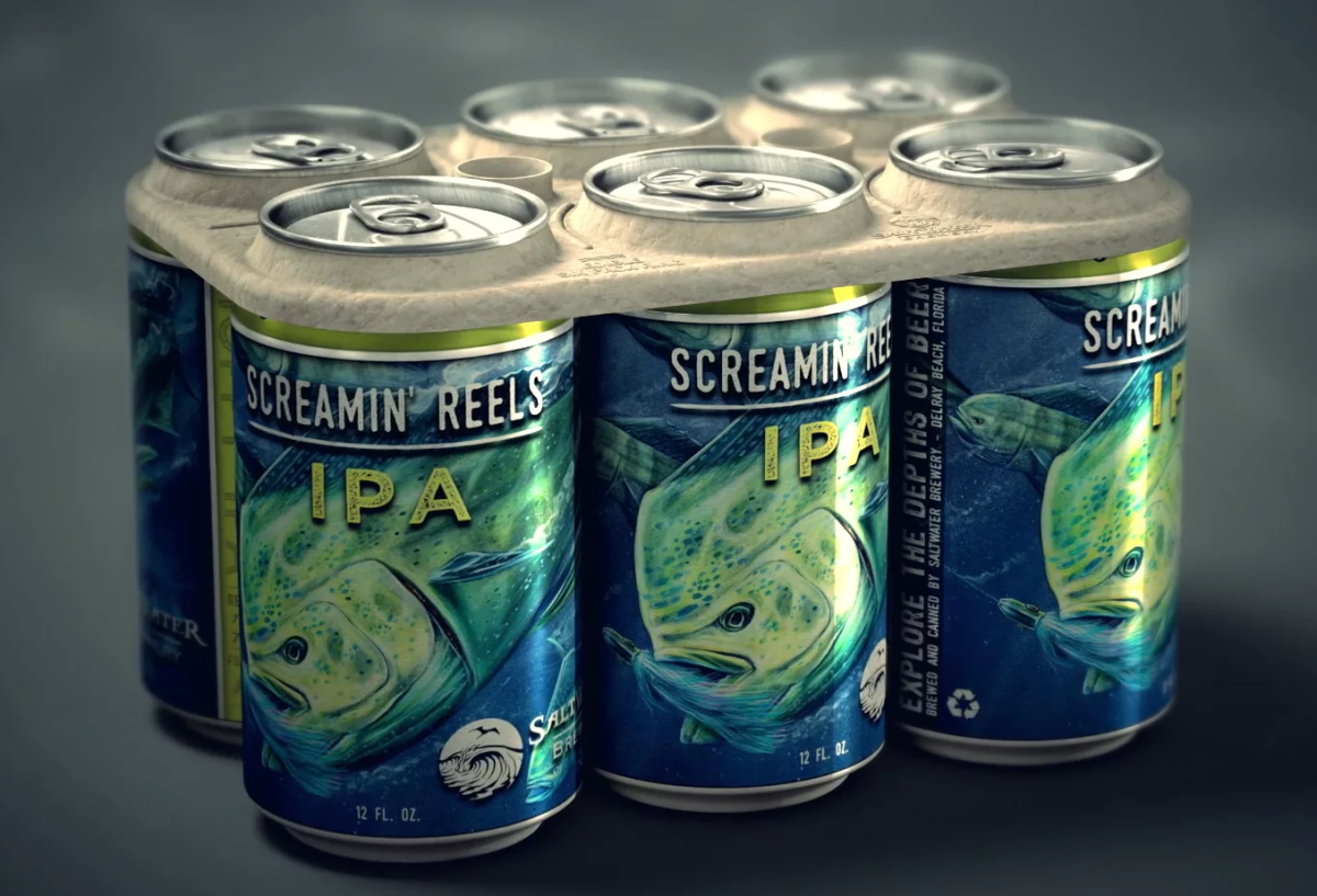 Saltwater Brewery released its beer that has an edible six pack ring, which is biodegradable and made up of barley and wheat remnants.