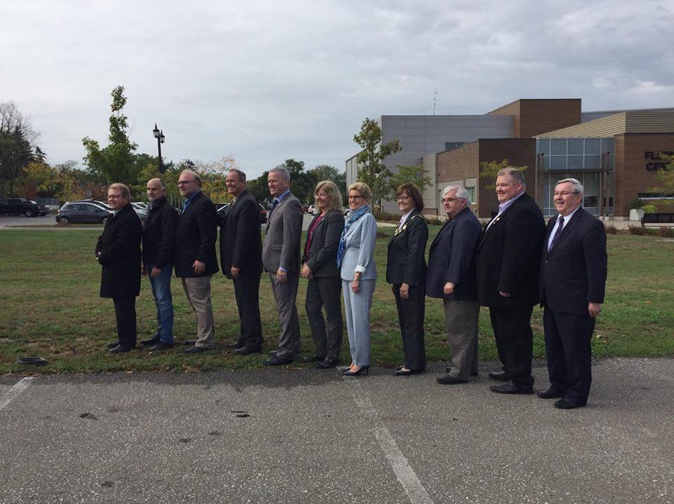 Premier Kathleen Wynne announces Niagara will receive up to $6.9 million to retrofit social housing units.