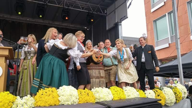 Premier Kathleen Wynne kicked off Kitchener's renowned Oktoberfest Friday.
