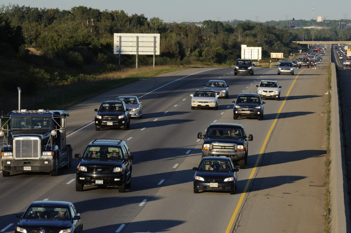 Highway 401 in Southwestern Ontario. The Canadian Press Images/Stephen C. Host.