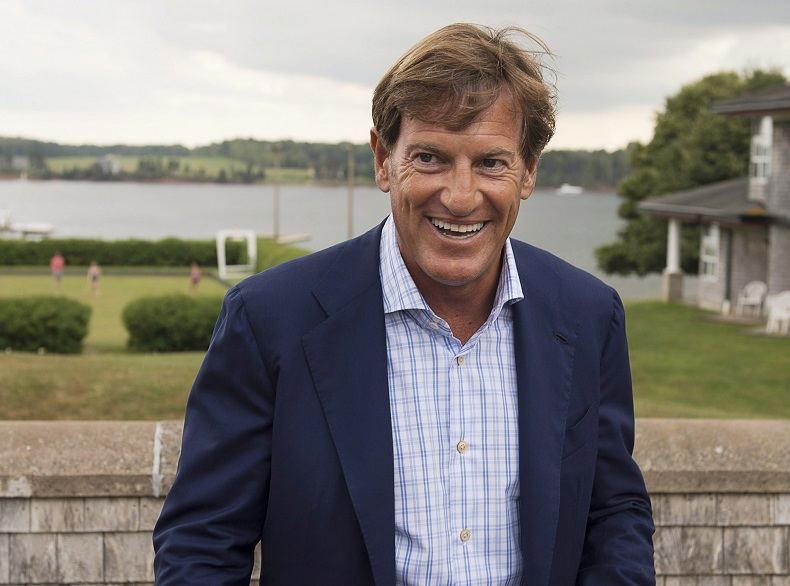Liberal Party of Canada fundraiser Stephen Bronfman is pictured at  the party's caucus retreat in P.E.I. in 2013.