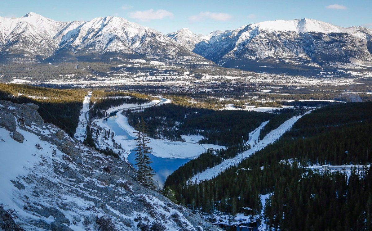 The mountain town of Canmore, Alta.
