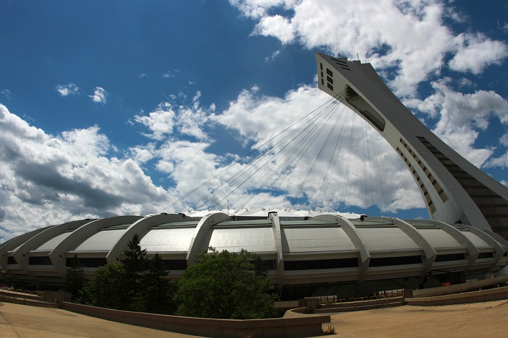 This file photo shows the Olympic Stadium in Montreal, Que., July 3, 2016. The  Quebec government says Montreal's Olympic Stadium will have a new roof by 2023.
