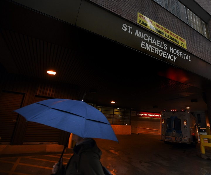 The emergency department at St. Michael's Hospital located at the corner of Shuter and Victoria Sts. in downtownToronto, is photographed on Oct 20 2016.