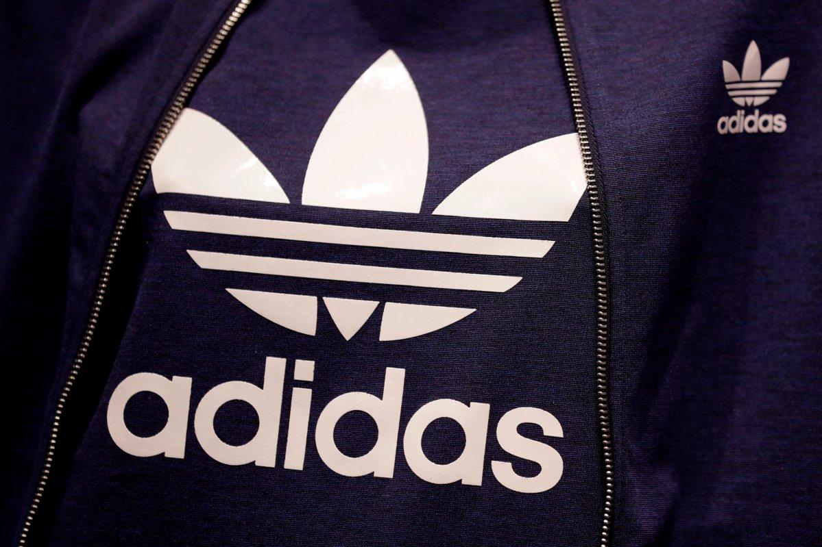 The Adidas logo.
