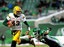 Continue reading: Edmonton Eskimos beat Roughriders, will face Bombers in West semis