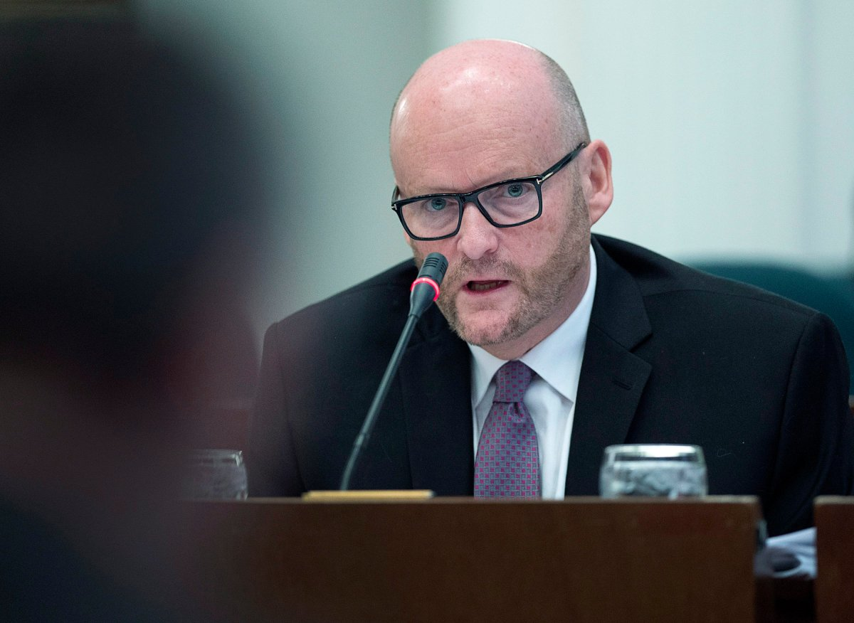 Nova Scotia Auditor General Michael Pickup appears before the public accounts committee at the legislature in Halifax on Wednesday, Nov. 29, 2017.