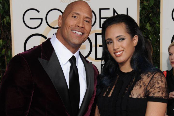 "Dwayne ""The Rock"" Johnson and his daughter, Simone Garcia Johnson."
